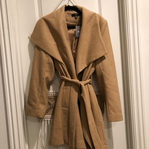 Missguided Belted Waterfall Coat